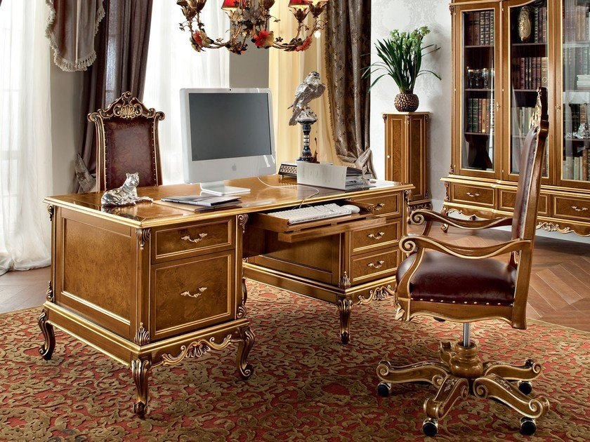 Rectangular solid wood office desk with drawers 12303 | Office desk by Modenese Gastone