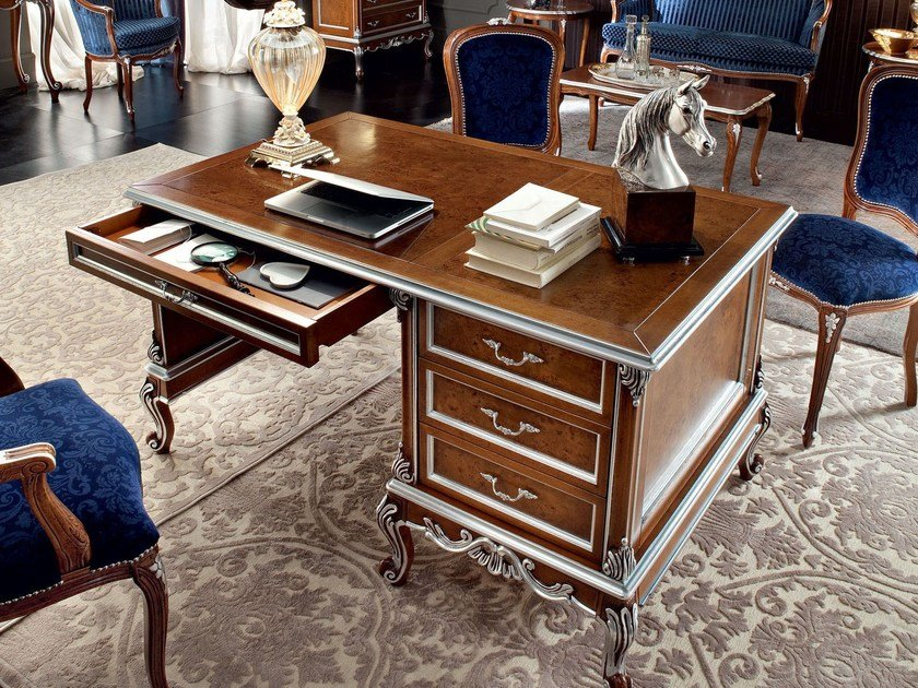 Rectangular solid wood office desk with drawers 12304 | Office desk by Modenese Gastone