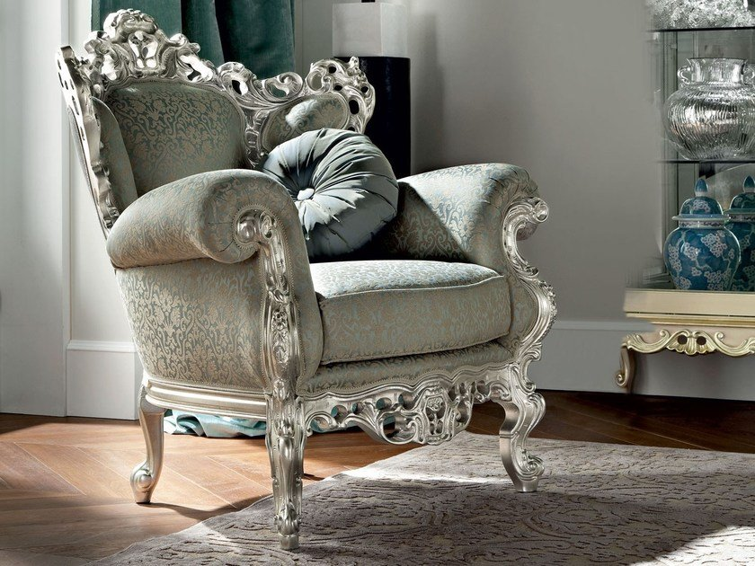 Upholstered fabric armchair with armrests 12410   Armchair by Modenese Gastone