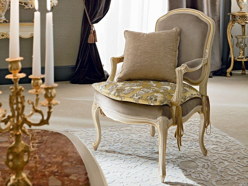 Upholstered easy chair with armrests 12436 | Easy chair by Modenese Gastone