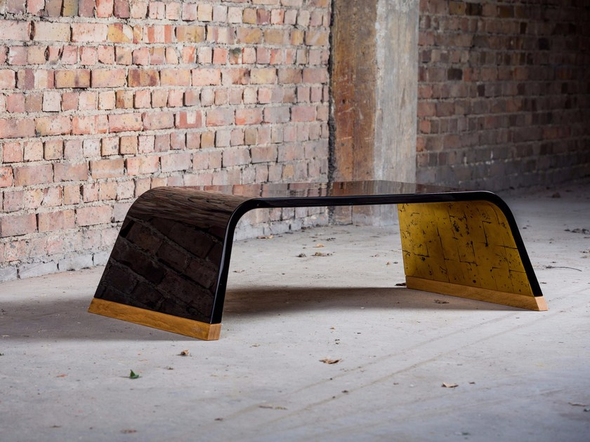 Rectangular wooden coffee table 126.RO EXCLUSIVE GOLD by CHRISTOPH ZANG
