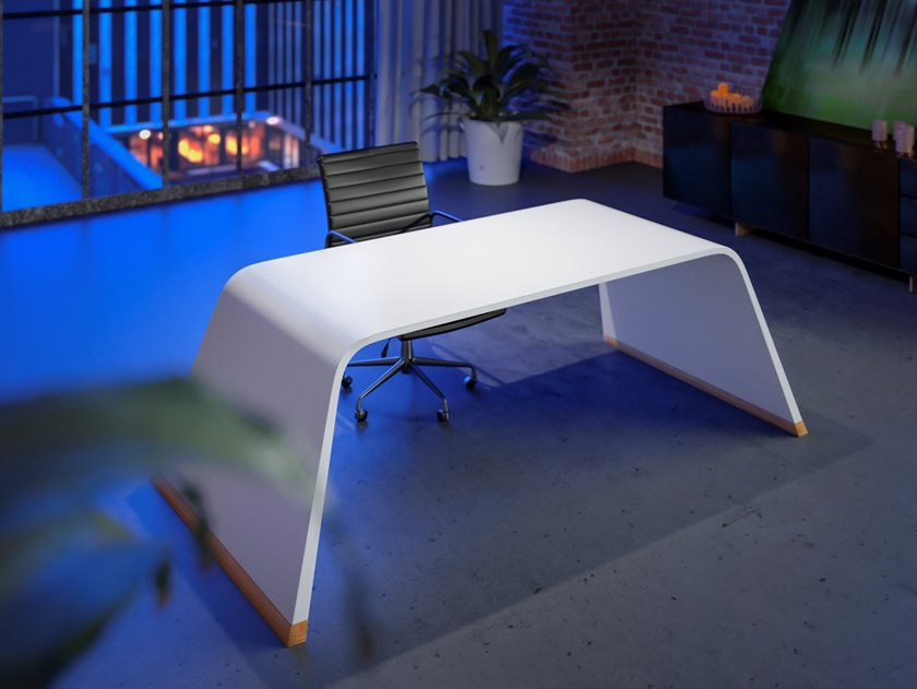 Lacquered rectangular wooden writing desk 126.SE | Lacquered writing desk by CHRISTOPH ZANG
