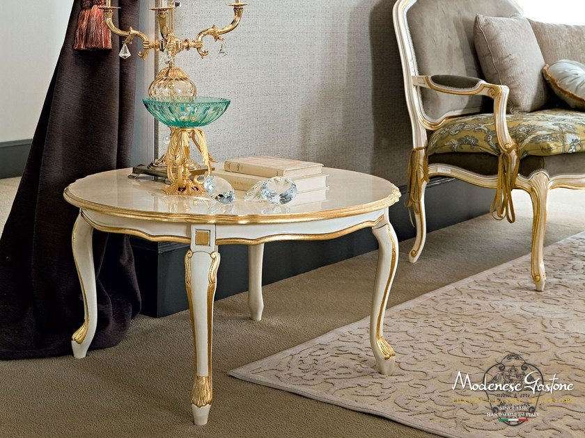 Round wooden coffee table for living room 12634 | Coffee table by Modenese Gastone