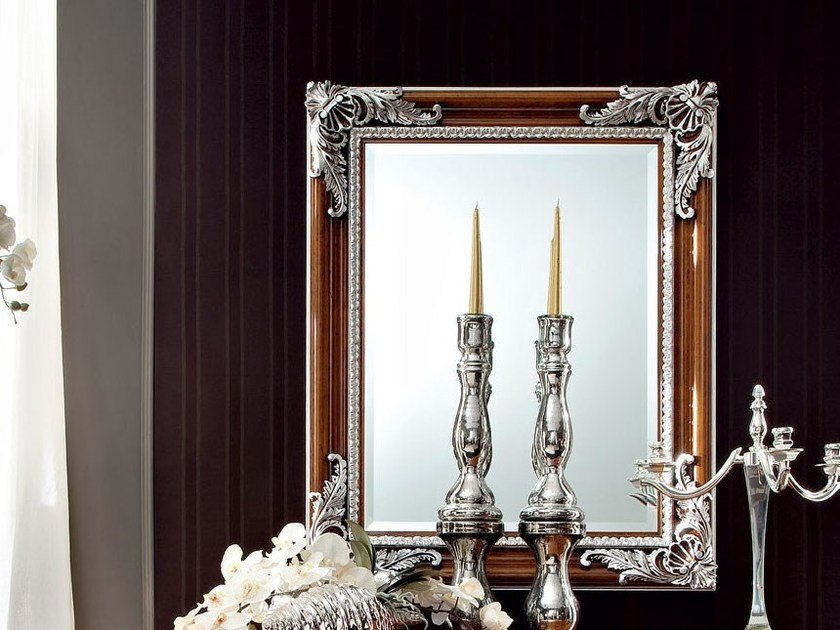 Rectangular wall-mounted framed mirror 12643 | Mirror by Modenese Gastone
