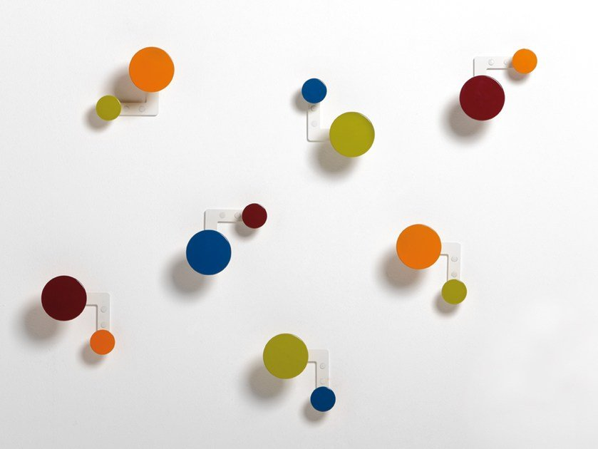 Wall-mounted aluminium coat rack PLANET by rosconi
