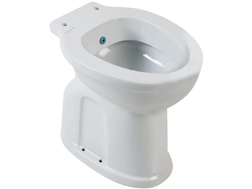 Floor mounted porcelain toilet with bidet 130 | Floor mounted toilet with bidet by Ponte Giulio