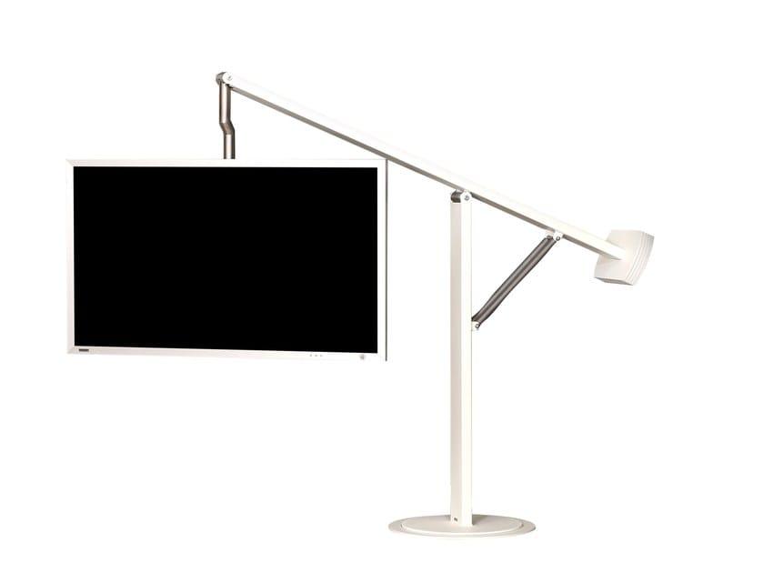 Wissmann Raumobjekte Porta Tv Girevole.Supporto Per Monitor Tv Orientabile A Pavimento Balance Art131