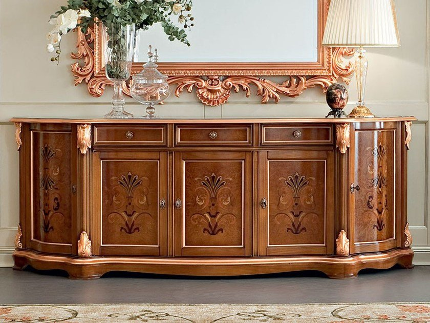 Wooden sideboard with doors with drawers 13105   Sideboard by Modenese Gastone