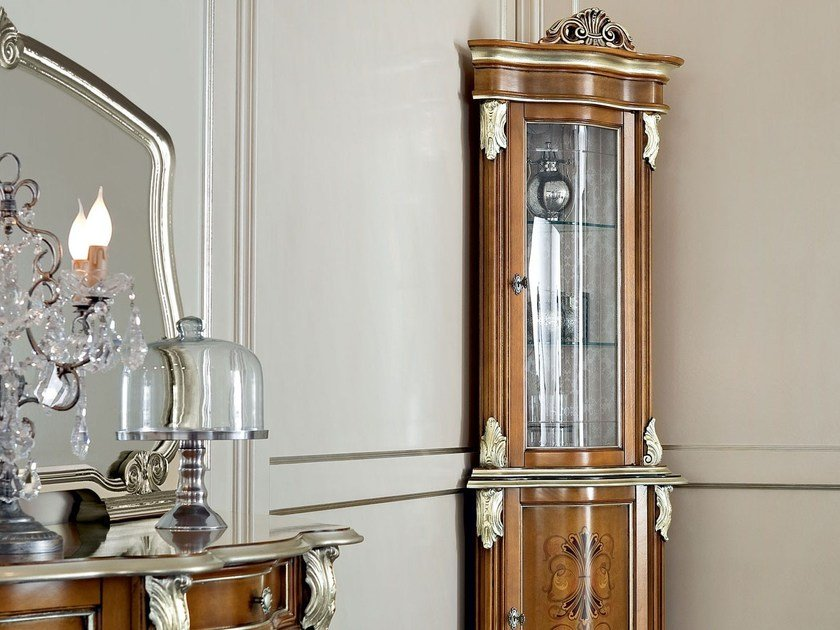 Wooden corner display cabinet 13109 | Display cabinet by Modenese Gastone