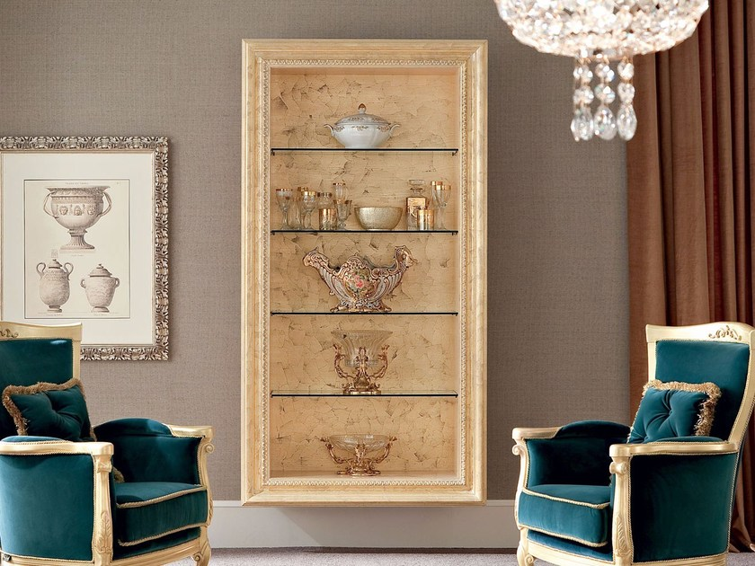 Open wall-mounted bookcase 13132 | Wall-mounted bookcase by Modenese Gastone