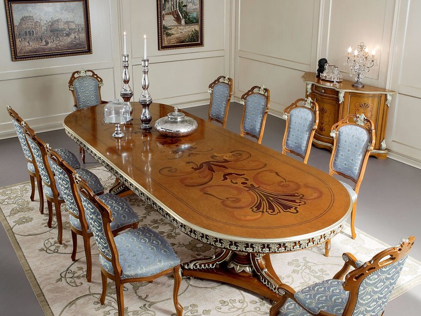Oval table 13139   Table by Modenese Gastone