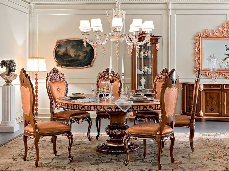 Baroque round living room table 13142 | Table by Modenese Gastone