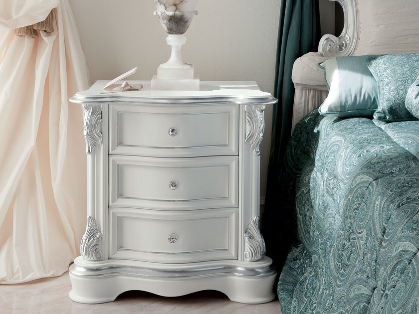 Rectangular bedside table with drawers 13206 | Bedside table by Modenese Gastone