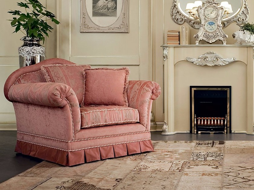 Upholstered armchair with armrests 13408 | Armchair by Modenese Gastone