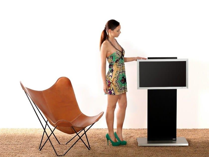 Metal TV cabinet with casters 135 | TV cabinet by Wissmann raumobjekte