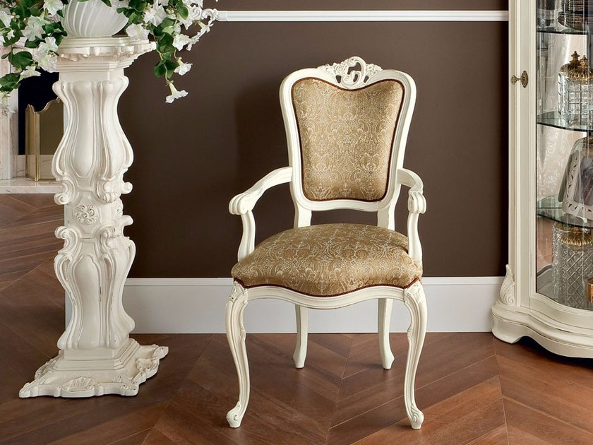 Upholstered fabric chair with armrests 13507 | Chair by Modenese Gastone