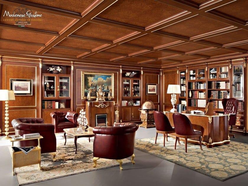 13602   Caminetto Chesterfield office hardwood luxury interior design - Bella Vita Collection - Modenese Gastone