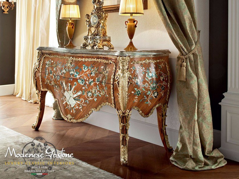 Baroque wooden sideboard with drawers 13604 | Sideboard by Modenese Gastone