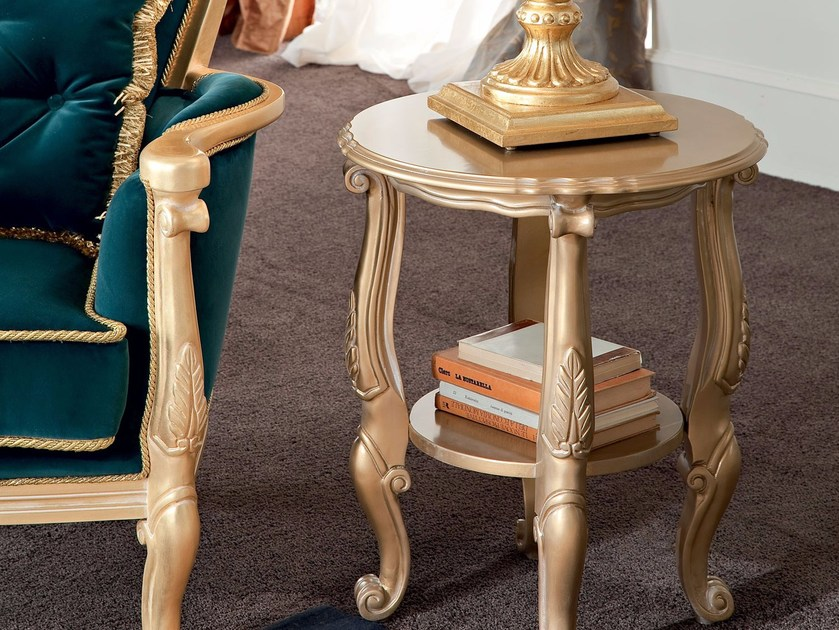 Round side table with integrated magazine rack 13648 | Coffee table by Modenese Gastone