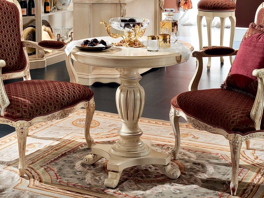 Round coffee table with 4-star base for living room 13650 | Coffee table by Modenese Gastone