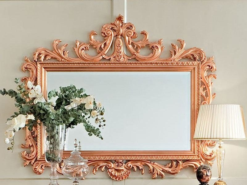 Rectangular wall-mounted framed mirror 13669 | Mirror by Modenese Gastone