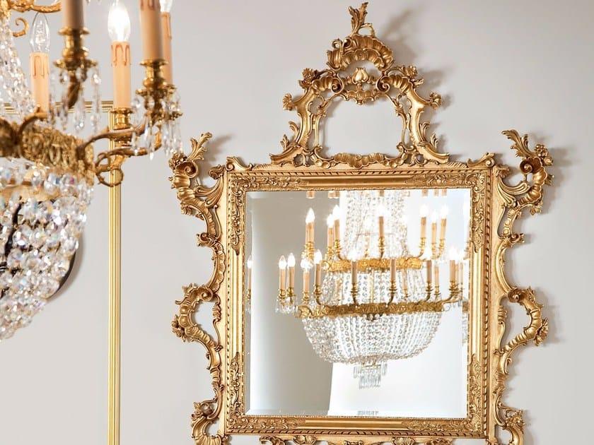 Baroque wall-mounted framed rectangular mirror 13671 | Mirror by Modenese Gastone