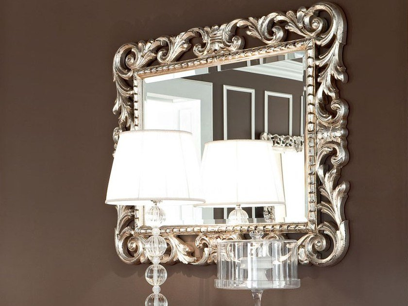 Rectangular wall-mounted framed mirror 13675 | Mirror by Modenese Gastone
