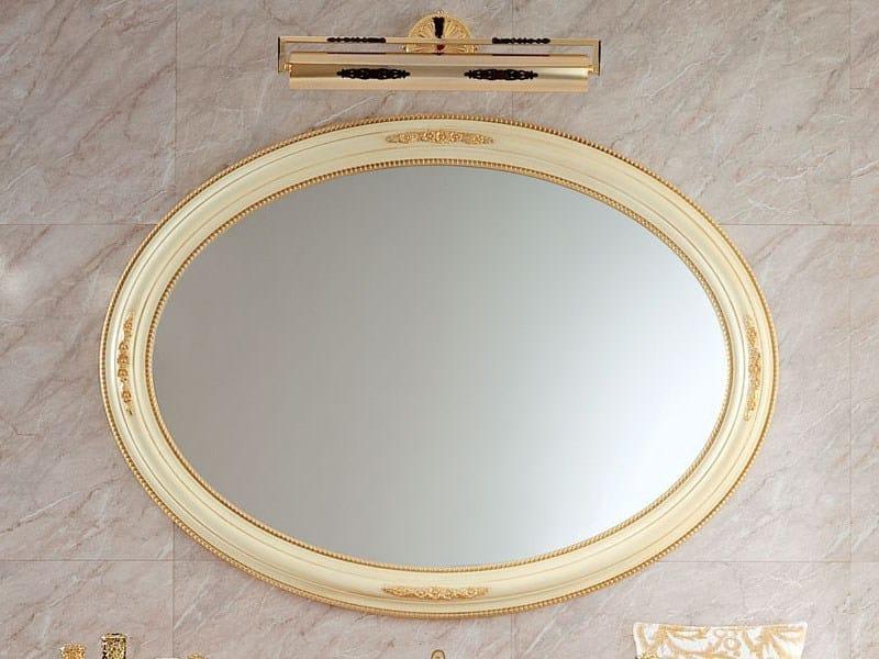 Oval wall-mounted framed mirror 13679 | Mirror by Modenese Gastone