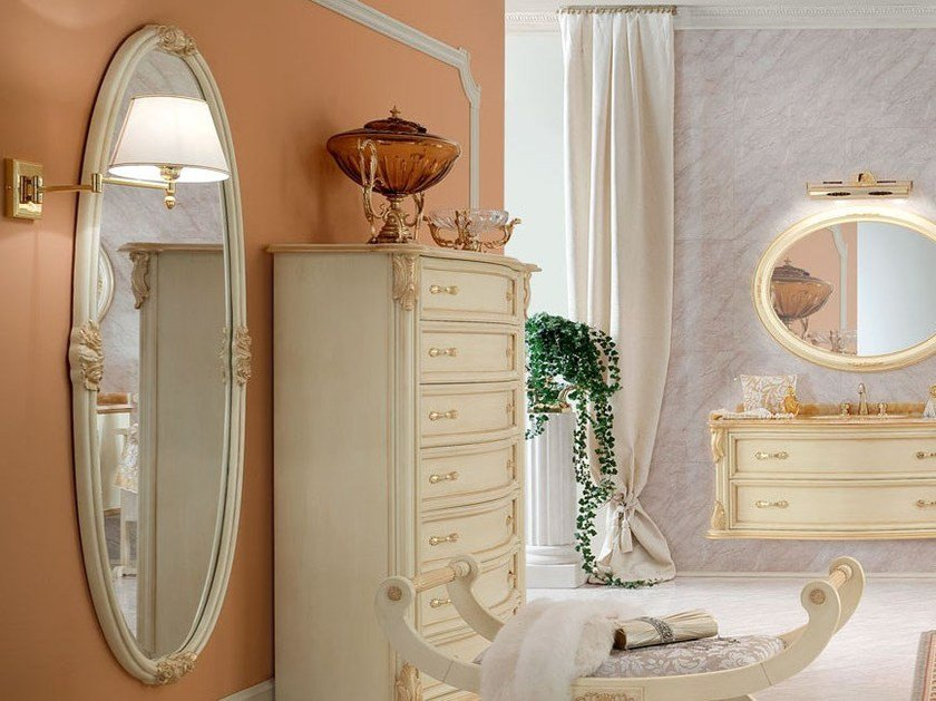 Wall-mounted framed mirror 13680 | Mirror by Modenese Gastone
