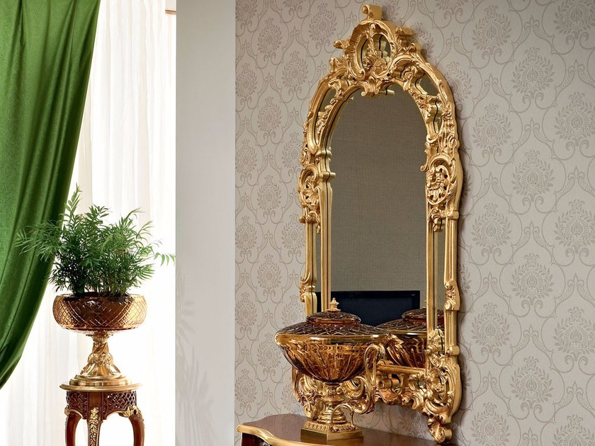 Wall-mounted framed mirror 13683 | Mirror by Modenese Gastone