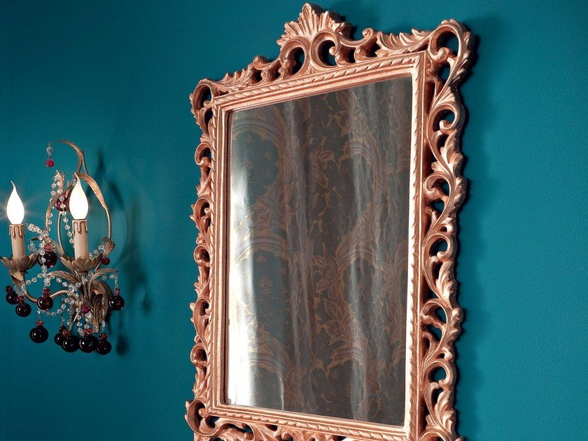 Rectangular wall-mounted framed mirror 13688 | Mirror by Modenese Gastone