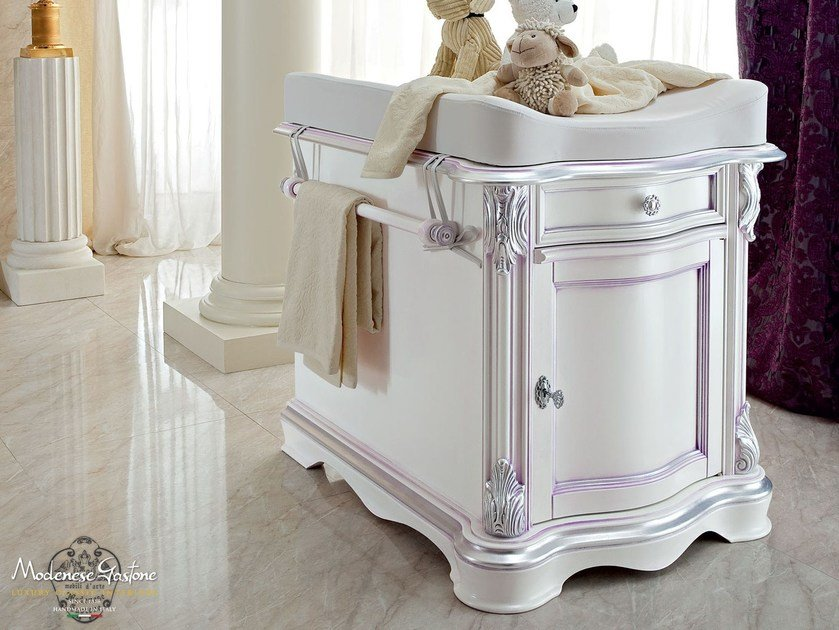 Wooden changing table with drawers 13700 | Changing table by Modenese Gastone