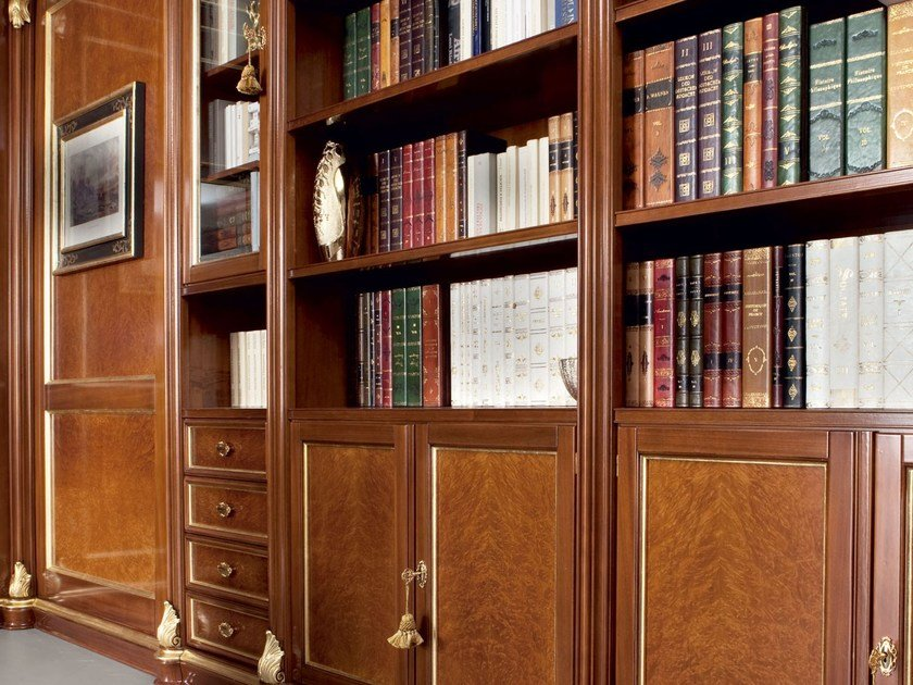Open custom wooden bookcase 13907 | Bookcase by Modenese Gastone
