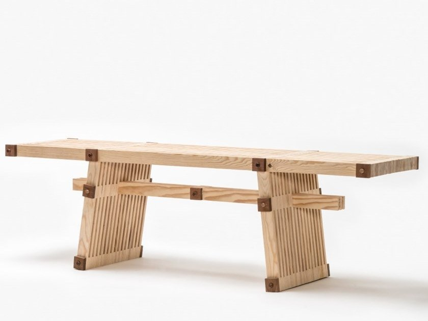 Wooden bench #14 | Bench by Linie by Cabana