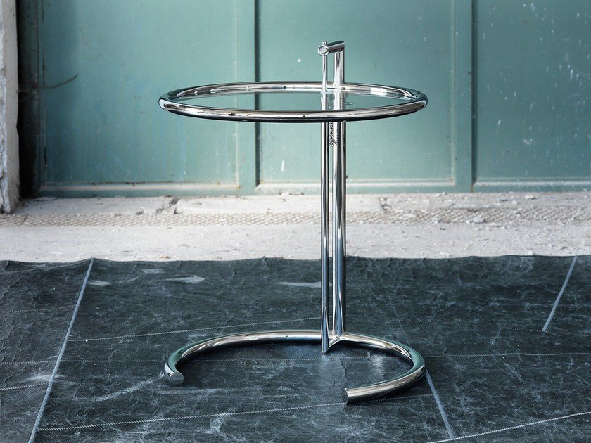 Crystal and stainless steel coffee table 1409 | Coffee table by Domingo Salotti