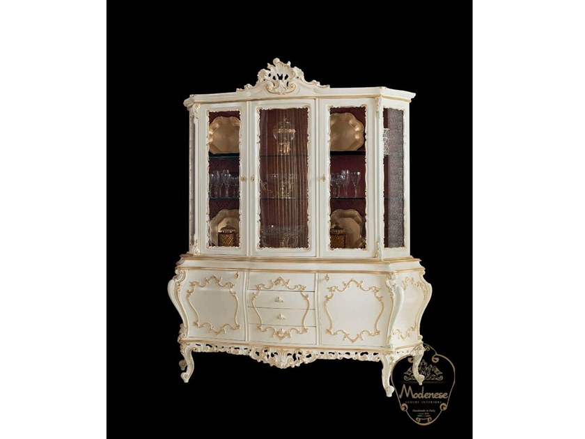 Wood and glass display cabinet 14115 | Display cabinet by Modenese Gastone