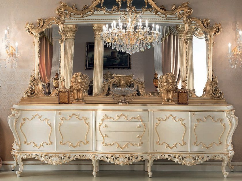Lacquered sideboard with doors with drawers 14116 | Sideboard by Modenese Gastone