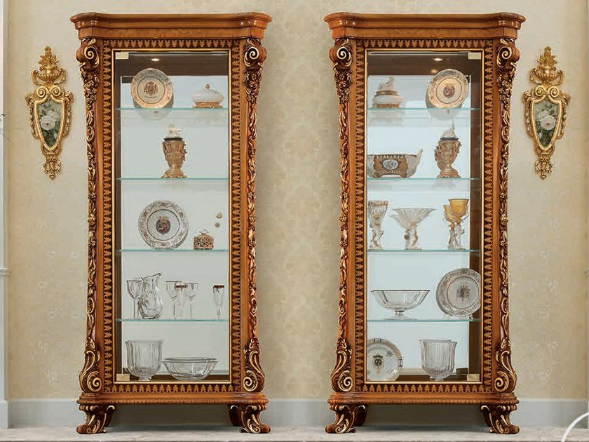 Wood and glass display cabinet 14121 - 14122 | Display cabinet by Modenese Gastone