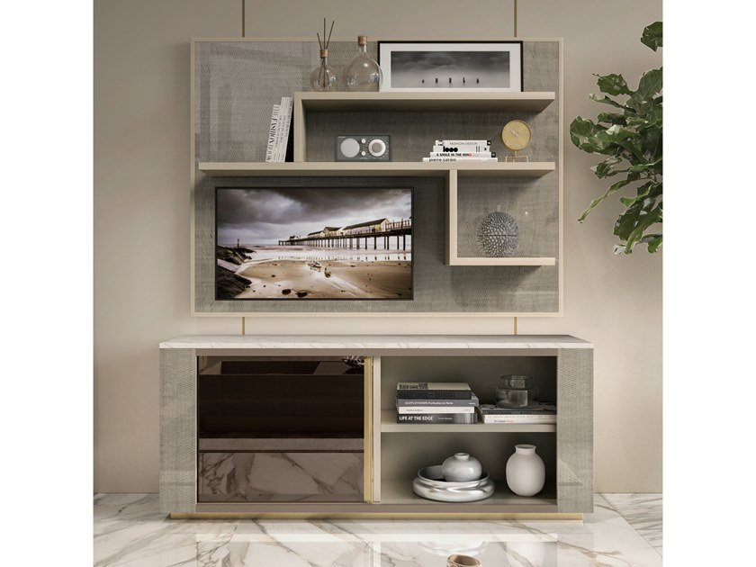 Wooden TV cabinet with shelves RICHMOND UPON THAMES | TV cabinet with shelves by Barnini Oseo