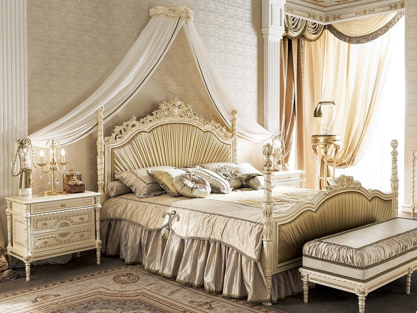 Double bed with upholstered headboard 14214 | Double bed by Modenese Gastone
