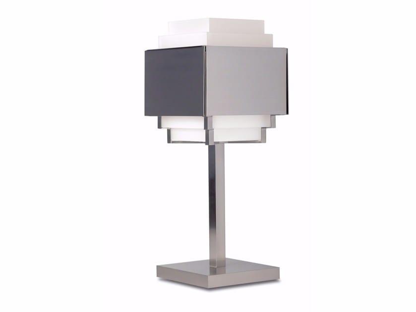 Lampada da tavolo a luce diretta e indiretta in bronzo 144 | Lampada da tavolo by Jean Perzel