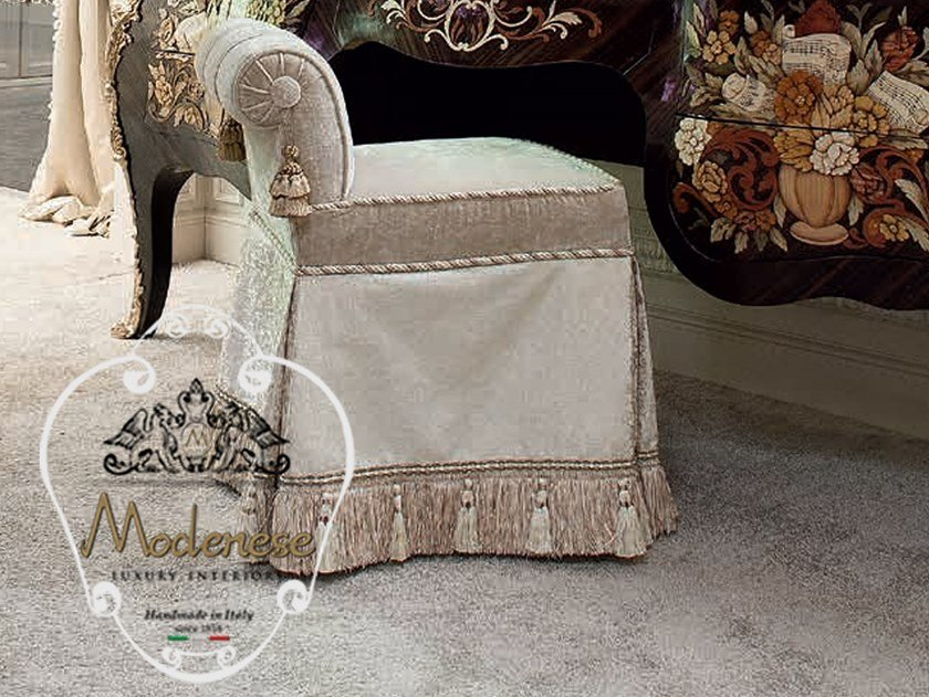 Low upholstered fabric stool 14515 | Stool by Modenese Gastone