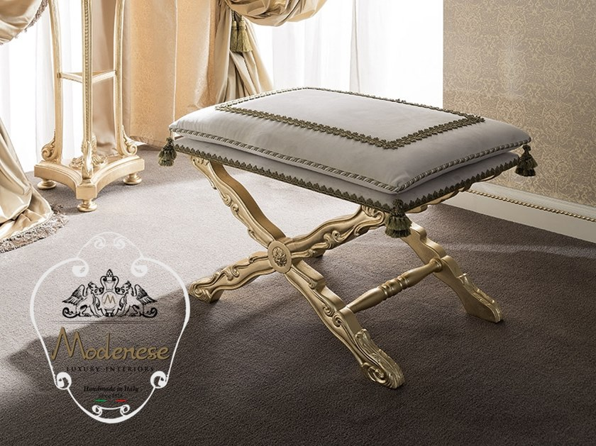 Low upholstered stool 14532 | Stool by Modenese Gastone