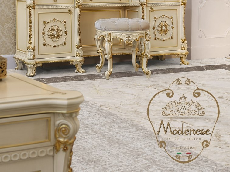 Low upholstered fabric stool 14535 | Stool by Modenese Gastone