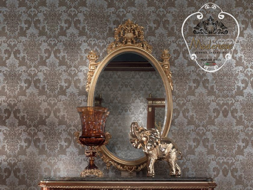 Oval wall-mounted mirror 14654 | Oval mirror by Modenese Gastone