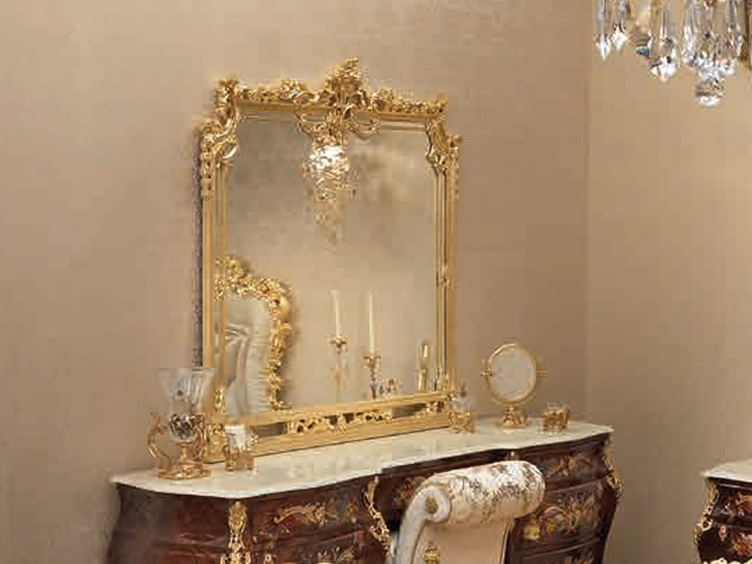 Rectangular wall-mounted mirror 14658 | Mirror by Modenese Gastone