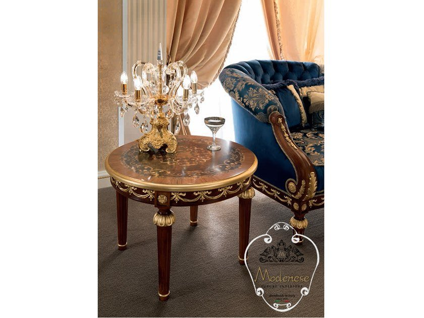 Round wooden coffee table 14668   Round coffee table by Modenese Gastone
