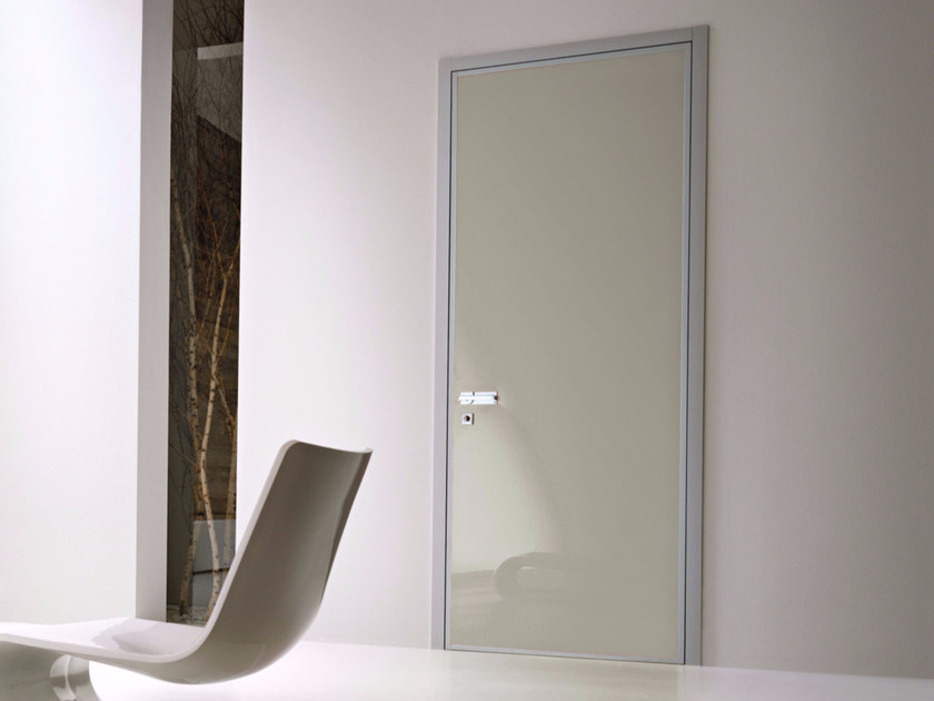 Safety door with concealed hinges MONOLITE  - 15.1004 MNT6000 by Bauxt