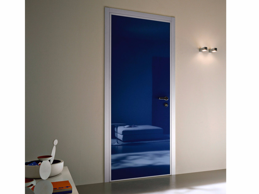 Safety door with concealed hinges MONOLITE - 15.1005 MNT6000 by Bauxt