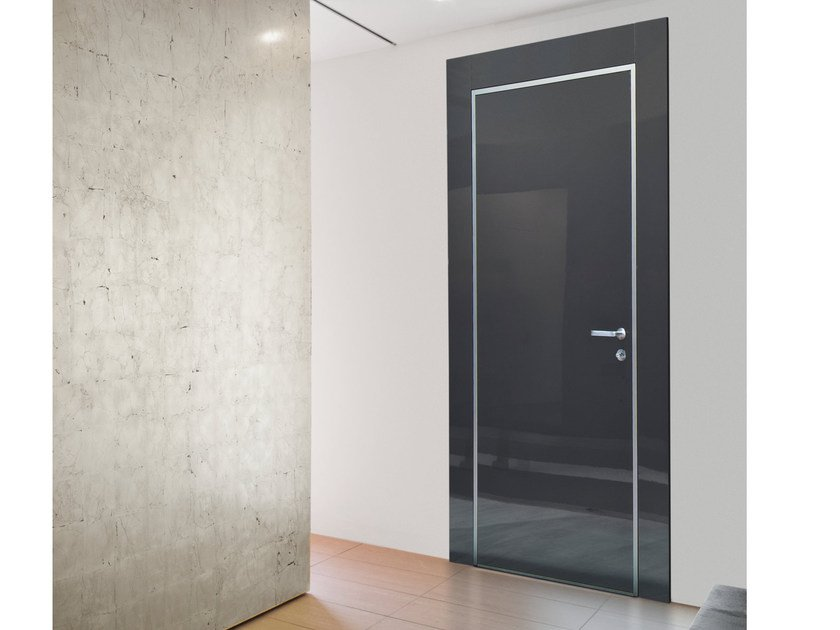 Safety door with concealed hinges MONOLITE - 15.1006 MNT6000 by Bauxt